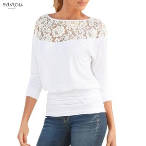 Sleeper W401 2020 Fashion Women Ladies Lace Round Neck Long Sleeve Shirt Blouse Blusas Solid Design Gifts For Lady Hot