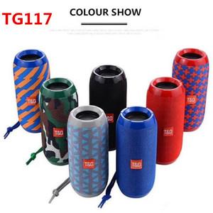 TG117 Bluetooth Lautsprecher bewegliche Lautsprecher Doppel Horn 1200mAh im Freien wasserdichten Subwoofers Funk-Lautsprecher-Unterstützungs-TF-Karte FM Radio 2019