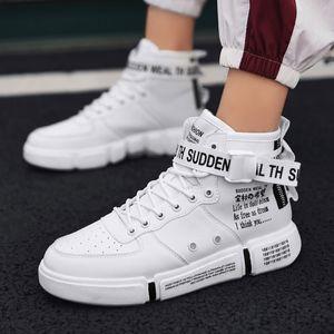 Lider Göster Erkek Moda Günlük Ayakkabılar Yüksek Top Sneaker 2019 İlkbahar Yeni Erkekler Ayakkabı Yüksek Kalite Kaymaz Yürüyüş Ayakkabı Zapatillas