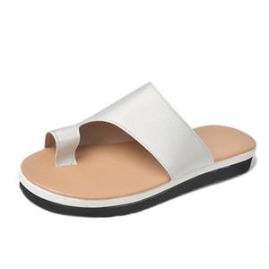 Mulher Wedge confortável Sandals Feminino Mid-calcanhar aberto Toe falhanços Ladies suave inferior ao ar livre Summer Beach Slippers Sólido cor Tamanho Grande