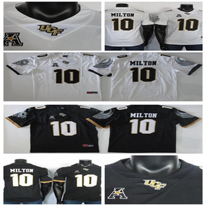 2019 College Football Jersey McKenzie Milton Jersey NCAA UCF Knights Maillots Fiesta Bowl Black White Patch 150E