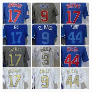 2018 Mens Jersey 44# 9 Baez 17 Bryan 17 KB 9 El Mago 44 Tony Baseball Jerseys Embroidery 100% Stitched