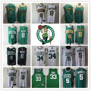 2020 CITY jerseys shirts Kemba 8 Walker Jayson 0 Tatum Larry 33 Bird Paul 34 Pierce Kevin 5 Garnett basketball