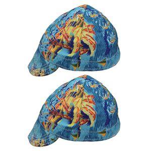 2x Welding Protective Segurança Hat Cap Welder Absorção Elastic Capacete de algodão