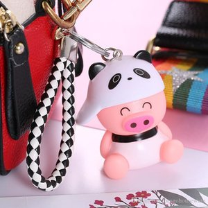 Mini Lovely Key Chain Bag Backpack Pendant Hot Sale Cartoon Pig Keychain Cute Pig Keyring Outdoor Car Key Ring Party Gift Custom BC BH1551