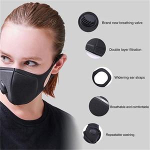 ¡En stock! Respiración reutilizable Máscaras de válvulas anti-alérgica PM2.5 Boca Máscara Anti-Polvo Anti polución Máscaras Cloth XD23204 Máscara