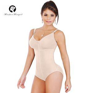 Minifaceminigirl Women's Butt Lifter Full Body Shaper Slimming Tummy Control Bodysuit Shapewear With Bra