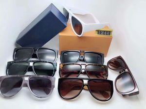 Роскошные Z1248 солнцезащитные очки Легкий защитный и легко носить Защита от ультрафиолетовых лучей Покрытие линз Зеркальное Цвет объектива покрыло рамки поставляются с пакетом