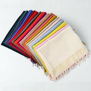 Le donne molli della signora Pashmina classica di seta Solid lane del cachemire dello scialle della stola della sciarpa Wrap