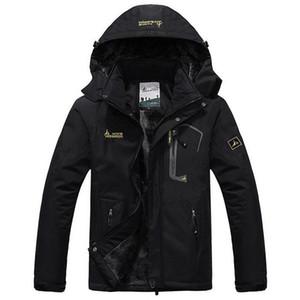 Jaqueta masculina Veste Hiver Épaisse Hommes Windproof Hood Parka Vestes et Manteaux Hommes Outwear Coupe-Vent Parkas Parka T190912