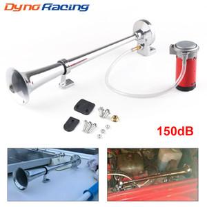 12V forte eccellente 150dB singolo tromba Air Horn Compressore per crogiolo di camion dell'automobile Treno Horn Hooter Per Auto Sound Signal