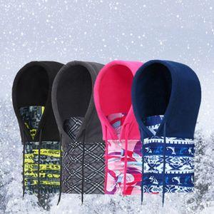 Engrossar velo chapéu multi função inverno manter quente com chapelaria headgear à prova de vento anti estático macio ski cap ZZA910