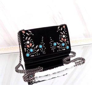 حقائب السيدات برشام الفاخرة CROSSBODY حقيبة ماركة أزياء الفيروز حقيبة مصمم حقائب الكتف التطريز اليدوية رسول حقيبة يد