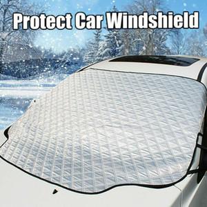 145 * 95CM الزجاج الأمامي للسيارات العالمي الغطاء الثلجي مات يناسب معظم نافذة السيارة مرآة حامي