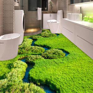 [Autoadesivo] 3D Grass 129 Floor Wallpaper Mural Wall Print Decalcomanie da muro