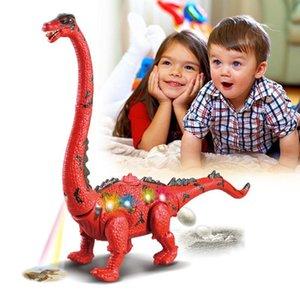 Dinossauros de incandescência Dinossauros Brinquedo Som Interativo Novidade Interessante Modelo de Brinquedo Moda Grande Elétrica Brilhando Andando Legal