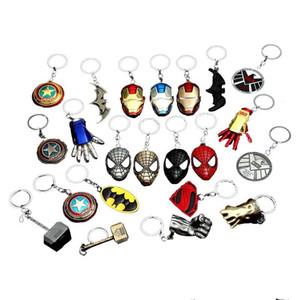 25 Stiller Kaptan Amerika Anahtarlık Avengers Superman Superhero Batman KeyChain Halka Anahtar halkası Moda Aksesuar L488