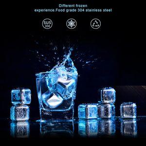 Принадлежности для бара Вино Чиллер Food Grade 304 из нержавеющей стали Виски Камни из нержавеющей стали Ice Cube металла Cooler напиток Ice Cube VT0352