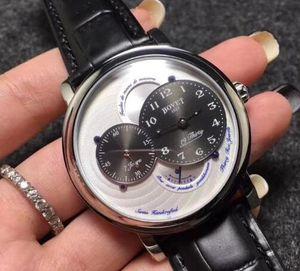Diseñador de moda del reloj para hombre BOVET maquinaria automática HD de cristal revestida con cuero de la capa hebilla Tamaño 42mm * 12mm