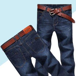 Jeans masculinos para hombre clásico recto de mezclilla con cremalleras plisada delgado azul negro jean rayado pantalones largos pantalones