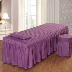1pc Brief Beauty Bed Birtspread Salon Beauty Salon with Hole Purpleester / cotton 5 Size 11 color options #S Y200417