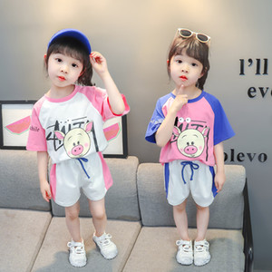 Kids Clothes Baby Girl Clothes Summer Sets Toddler for Teens Girls Outfits Children Suit 2PCS T-shirt+Shorts Cartoon 6 3