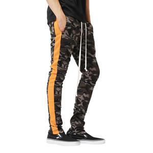 Pantalones para hombre de Nueva camuflaje larga impresa Joggers flojo ocasional de los pantalones de diseño de rayas pantalón ropa de la aptitud de Calle masculinos