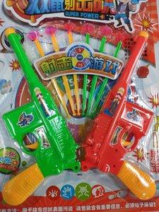 شحن مجاني مسدس لينة رصاصة مزدوجة بندقية الرياضة الطفل لعبة انبعاث مصاصة رصاصة بندقية الصبي البلاستيك لعبة بندقية مزدوجة كبيرة + 6 جولات ناعمة
