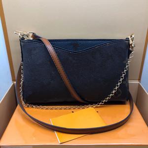 PALLAS embrague M44638 diseñador de moda para mujer de la tarde del bolso de hombro de lujo Pequeño monedero de la correa del teléfono Cadena de 2 maneras Uso pequeña bolsa