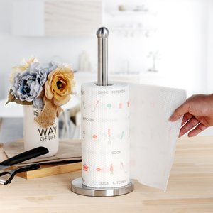 Aço inoxidável Kitchen suporte para papel Roll Up Titular Toalha de Banho Tissue Toilet Paper Levante Guardanapos cremalheira Início Tabela Acessórios T200425