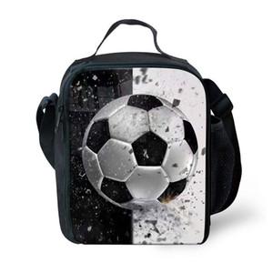 نمط كرة القدم شخصية كيد حقيبة الغداء معزول مدرسة بنين بنات الغداء وجبة خفيفة صندوق