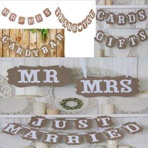 Vintage Düğün Bunting Banner Photo Booth Dikmeler İşaretler Garland Gelin Duş Düğün Dekorasyon S1