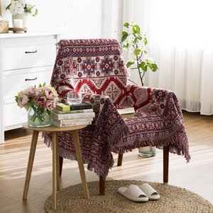 BeddingOutlet Geometry Baja Blanket Bohemia Sofa Seat Cover Witchcraft Tapestry Throw Blanket for Bed Plane Knitted Yoga Blanket