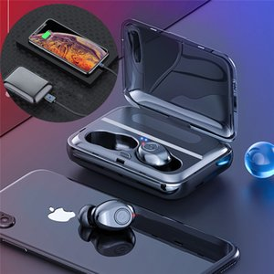 Bluetooth 5.0 Earphones TWS Wireless Headphones Stereo Headset Earbuds with Charging box for Samsung Galaxy S8 / 7 iPhone
