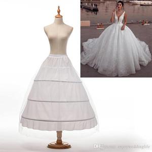 أعلى جودة الأبيض 3 الأطواق ثوب نسائي القرينول قماش قطني زلة تحتية لفستان الزفاف ثوب الزفاف زائد حجم الزفاف تنورات CPA1237
