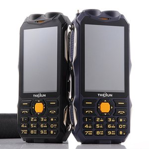 Original TKEXUN Q8 Moblie Telefon-Energien-Bank Magie vioce Dual-SIM-Karte Taschenlampe FM Außen Stoß- Telefon Analog Rugged Fernsehmobiltel