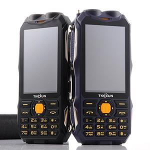 TKEXUN tarjeta original Q8 teléfono Moblie Power Bank magia vioce dual sim linterna FM al aire libre a prueba de golpes de teléfono analógico de televisión resistente Celular
