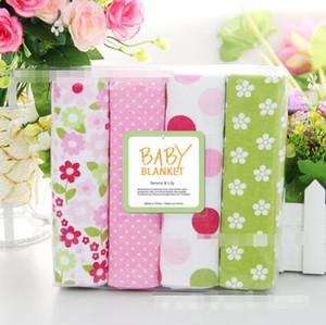 Draps enfants Literie de bébé Beding Couverture Owl Imprimer Dot Flower Draps de couchage Draps coton Bedsheet Flanelle Couvertures Linge de lit A1127