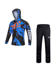 2020 New Summer Outdoor Sunscreen Fishing Clothing Breathable Perspiration Anti-mosquito Fishing Sporting Clothes + Trousers