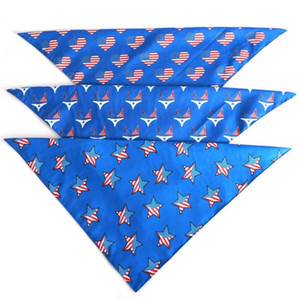 Double-layer American Independence Day Flag Pet Triangle Dog Scarf Pet Supplies
