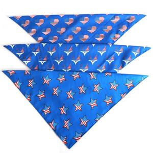 Двухслойный американский флаг Дня Независимости Пэт треугольник собака шарф Зоотовары