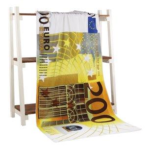 200 Евро Деньги Полотенце Сушка мочалкой Купальники Душ 70 * 140 Vacuum частей Аксессуары