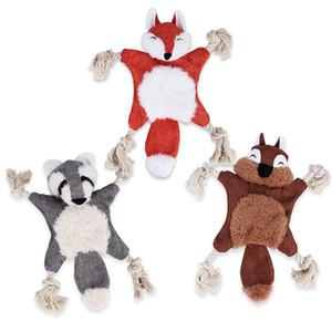 Sevimli Pet oyuncaklar yeni peluş vokal köpek bakım ürünleri aşınmaya dayanıklı ısırma simülasyon tilki sincap bibi ses oyuncak