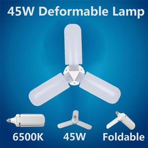 B27 E27 Screw tensão larga 85V - 265V LED Folding Garagem Luz brilho constante atual 45W Light Bulb Flying Saucer La W3