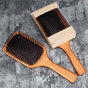 Saç Bakımı Fırçası Styling Derisi Masaj Ahşap Spa Şampuan Tarak Antistatik Saç Tarak Masaj Başkanı Kan Dolaşımı Teşvik