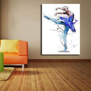 Blue Swan Peinture De Yann Dalon HD Toile Affiches Affiches Wall Art Peinture Image Décorative Moderne Décoration de La Maison Cadre