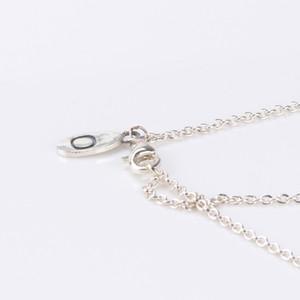 Al por mayor sin collar colgante de cadena para Pandora 925 joyas de plata con las damas caja original cualquier collar a juego