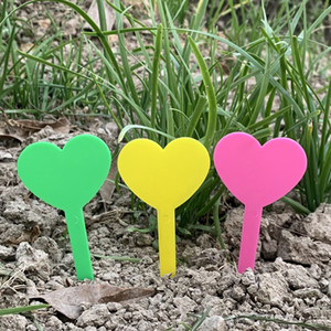 Gardening Label Flowers And Plants Plug In The Ground Marker Plant Tags Waterproof Heart Type Light Fastness 0 05cx C2