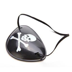 1pc Pirate Masque pour les yeux Oeillère Eyeshade Couverture clair pour adultes Lazy amblyopie Skull Patch