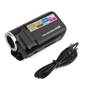 """Mini câmara de vídeo Full HD 1080p 16MP com 1,5"""" TFT cartão SD / SDHC zoom digital de 8X USB2.0 Video Recorder Camcorder DV Camera"""